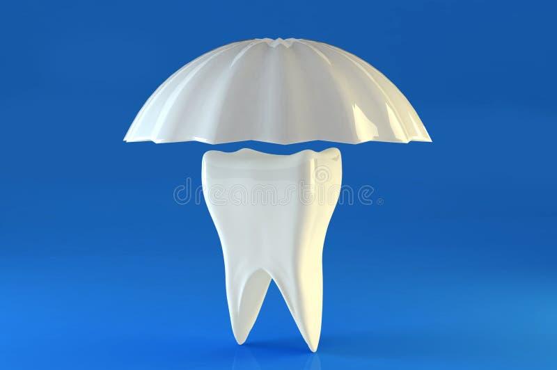 保护牙 库存例证