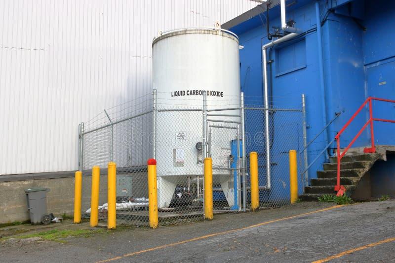 保护的可燃烧的商业气体 库存照片