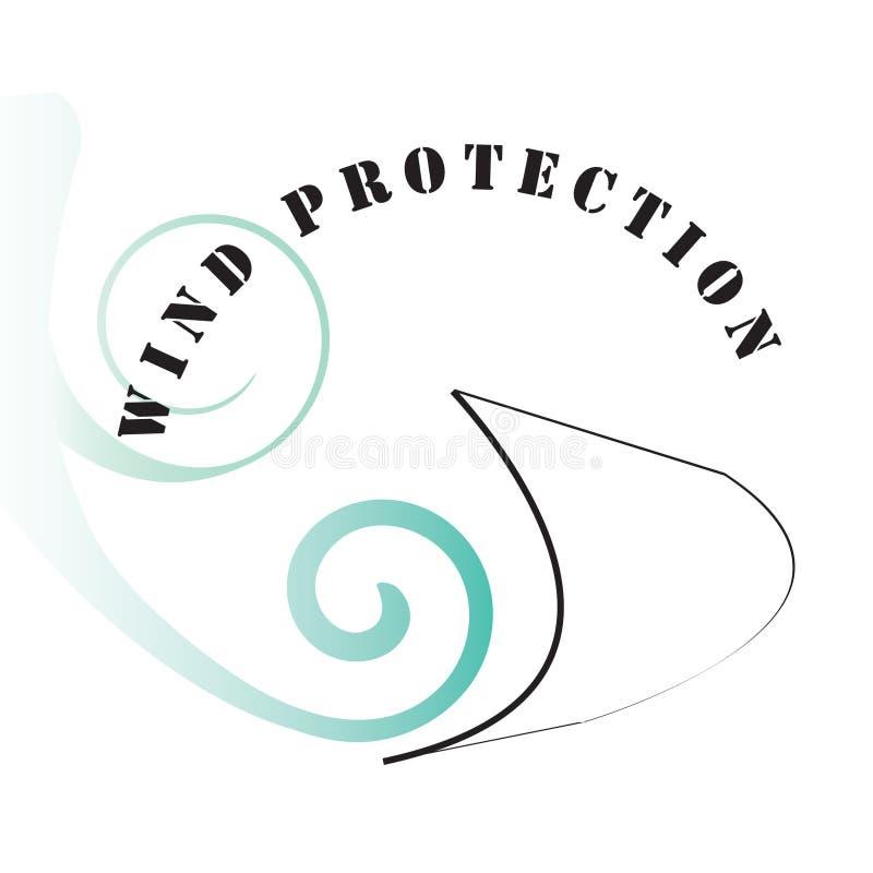保护符号风 免版税库存图片