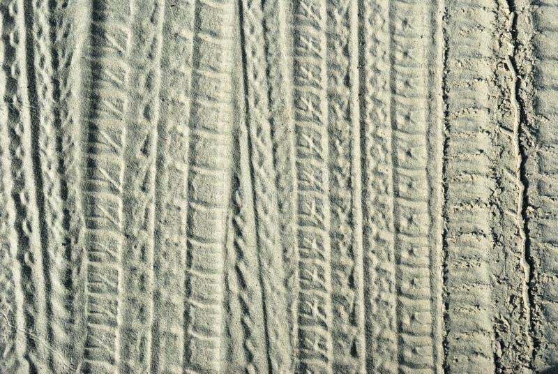 保护者沙子跟踪 免版税图库摄影