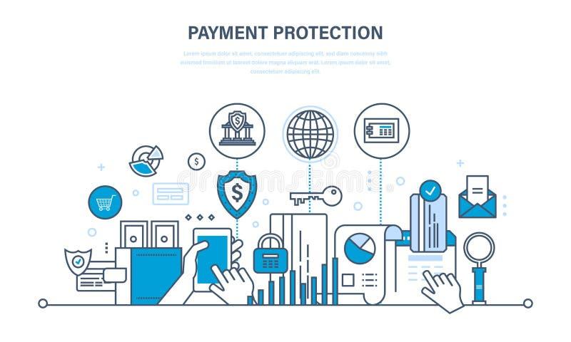 保护,保证付款安全,财务,保证金,保险,汇款 向量例证