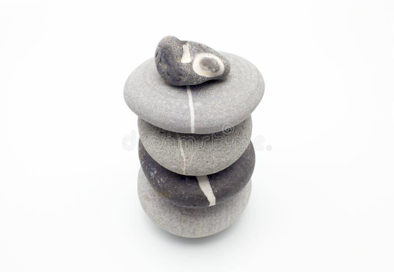 保持平衡的石头 库存照片