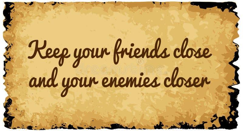 保持您的朋友接近 向量例证