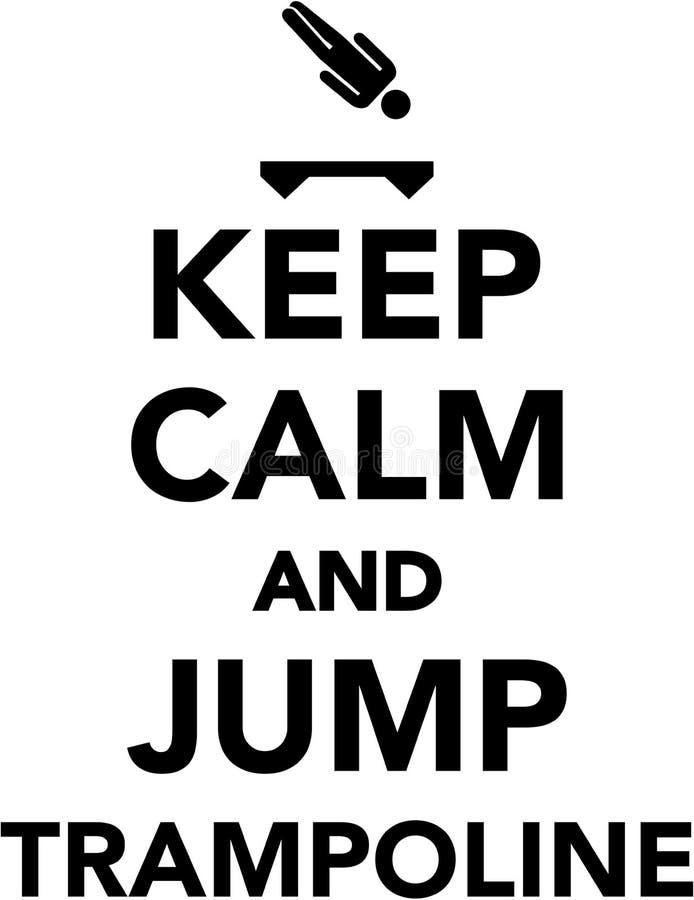 保持镇静并且跳跃绷床 库存例证