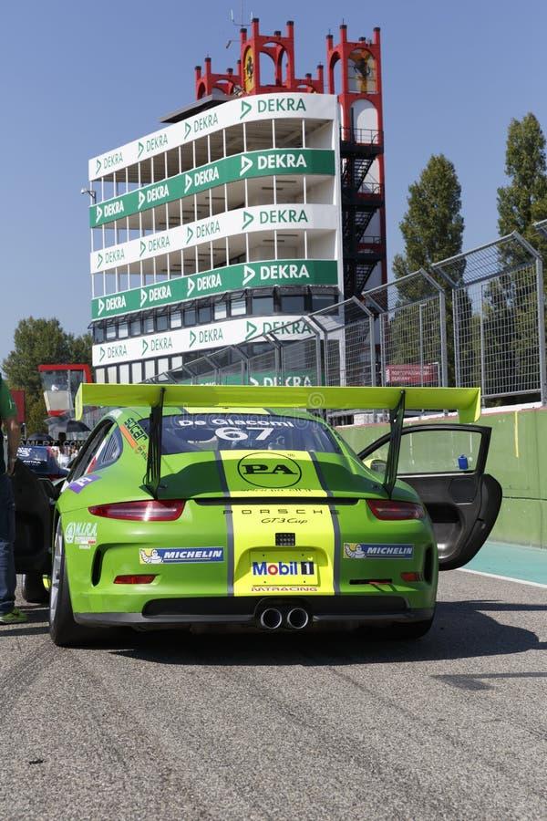 保时捷Carrera杯意大利小汽车赛 免版税库存照片