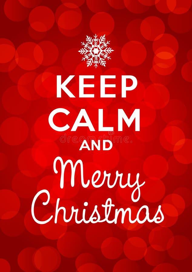 保留安静和圣诞快乐 向量例证
