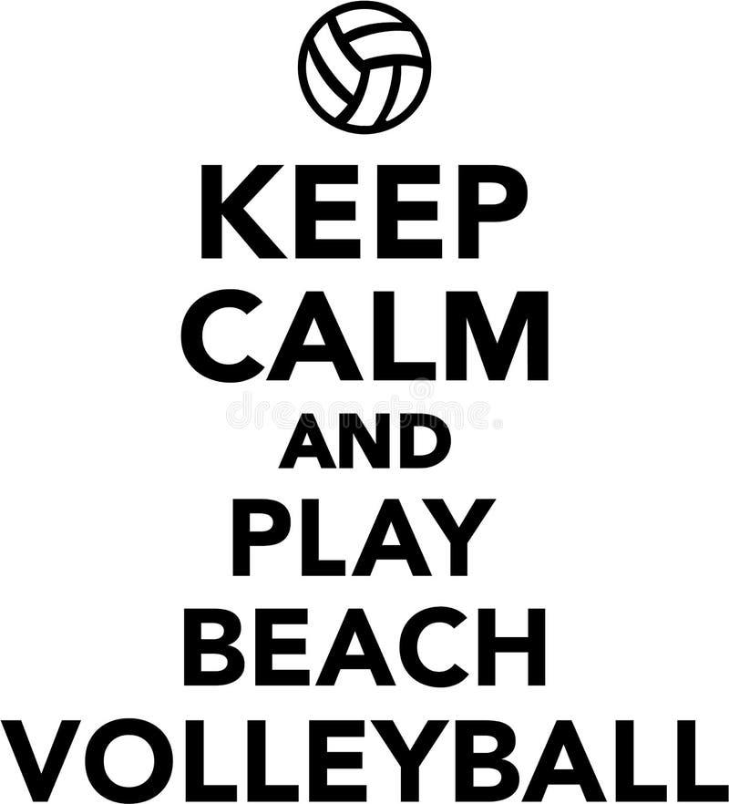 保留安静和戏剧沙滩排球 向量例证
