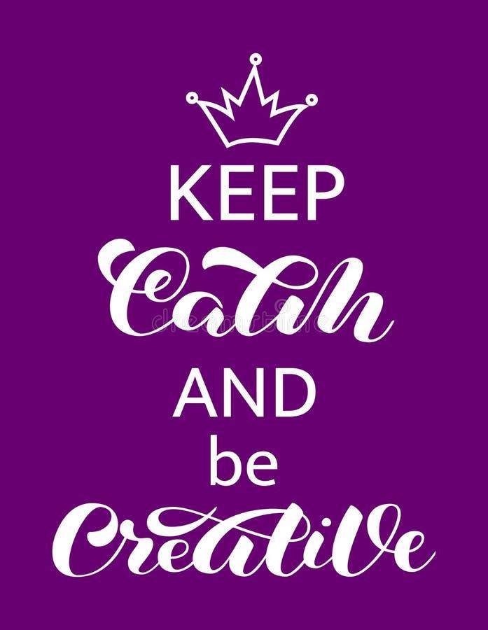 保留安静和是创造性的字法 横幅的词 r 库存例证