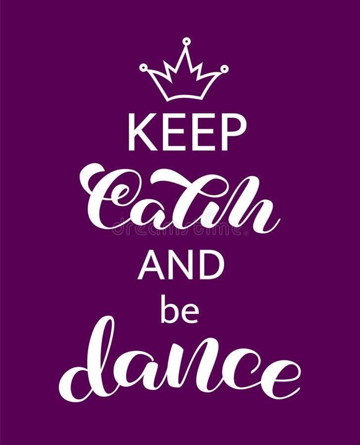 保留安静和舞蹈字法 横幅的词 r 向量例证
