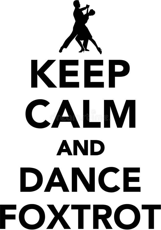 保留安静和舞蹈跳狐步舞 向量例证