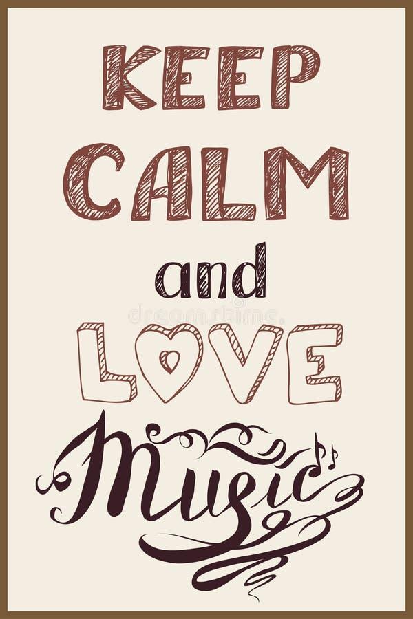 保留安静和音乐 向量例证
