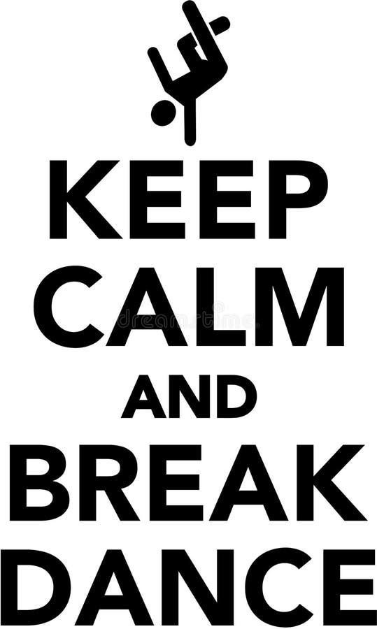 保留安静和breakdance 向量例证