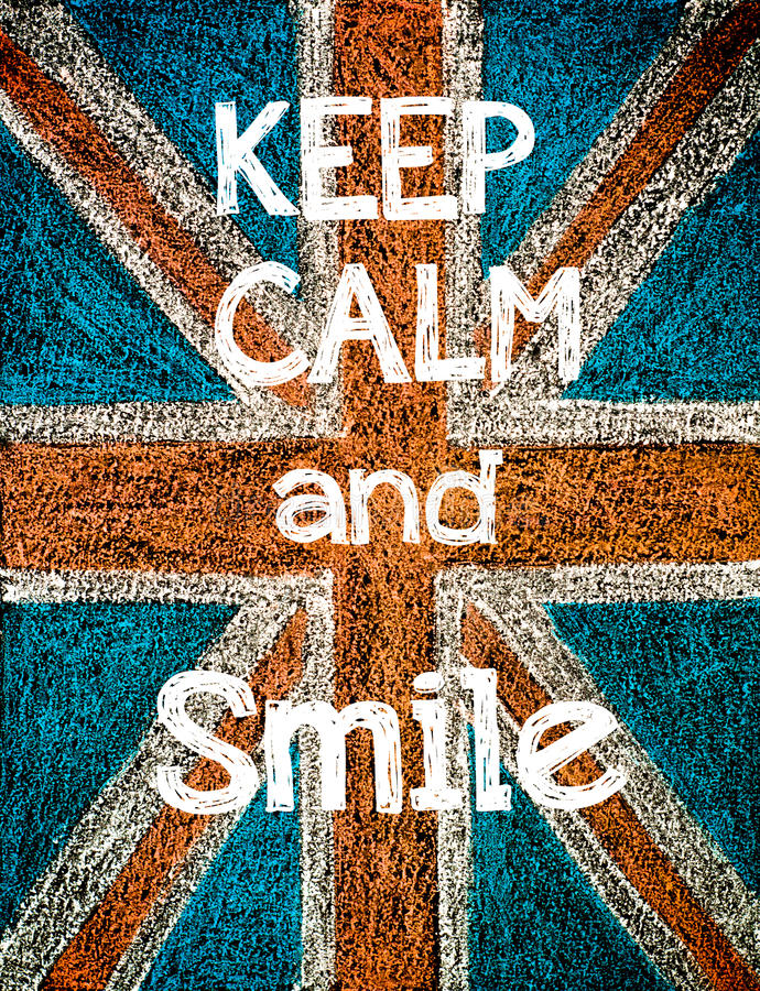 保留安静并且微笑 向量例证