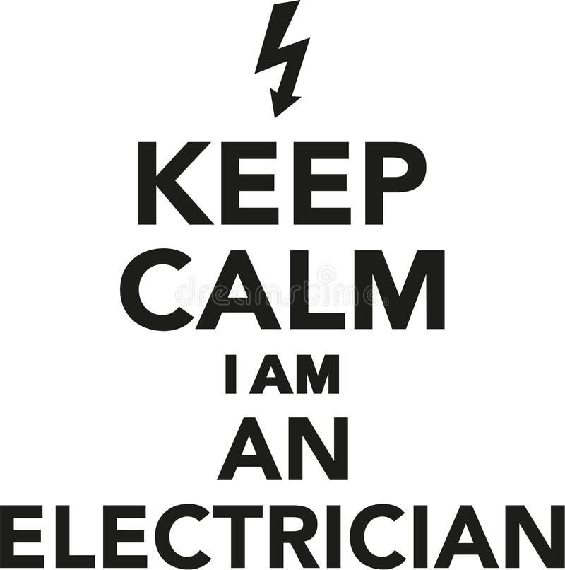 保留我是电工的安静 库存例证