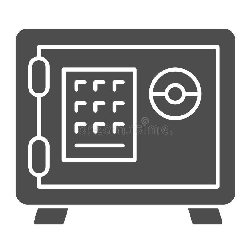保管箱坚实象 号码锁在白色隔绝的传染媒介例证 银行安全纵的沟纹样式设计,设计为 皇族释放例证