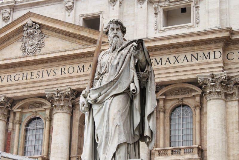 保罗圣徒雕象 免版税库存图片