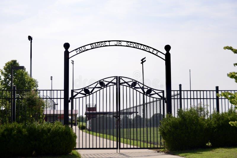保罗毛尼雨衣小 Sportsplex Barretville,田纳西 免版税库存图片