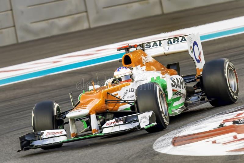 保罗Di Resta F1强制印度 免版税库存图片