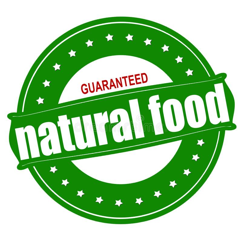 保证的自然食物 向量例证
