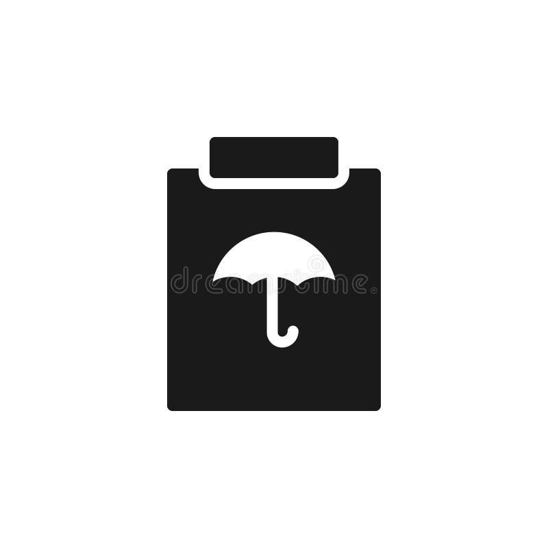 保证,保险,政策象-传染媒介 保险概念传染媒介例证 库存例证
