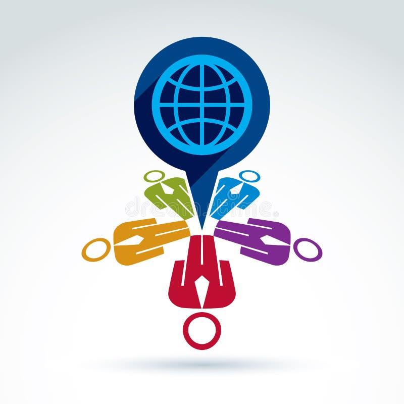 保重关于世界的社会和组织,全球性pe 皇族释放例证