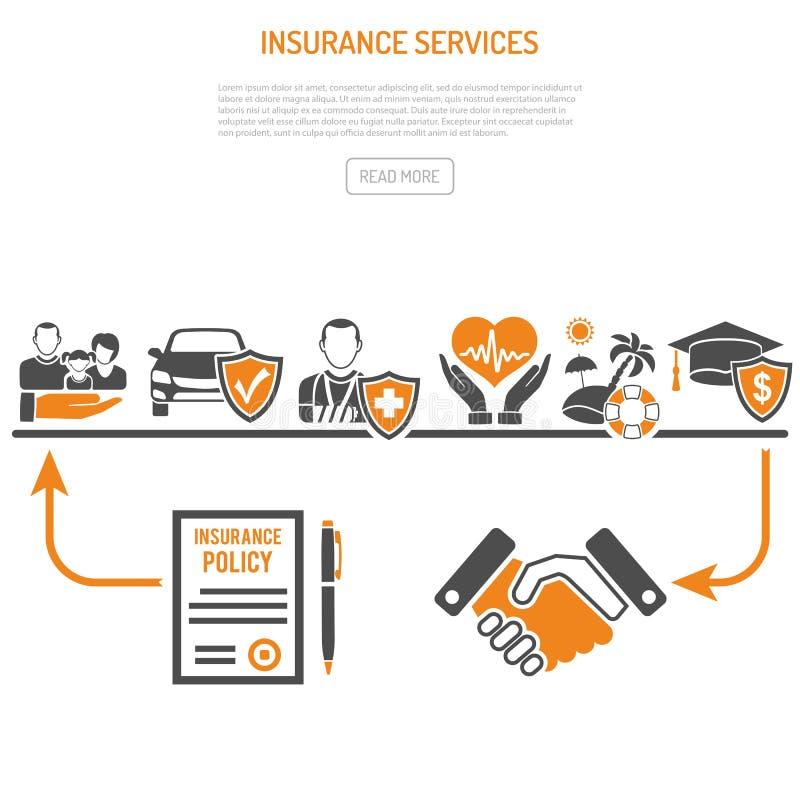 保险业务处理概念 库存例证