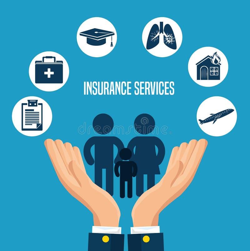 保险业务概念 向量例证