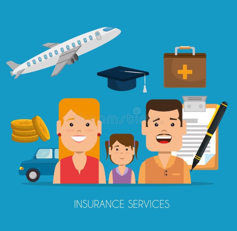 保险业务概念 皇族释放例证