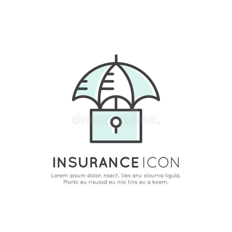 保险业务,保障,安全概念的例证 皇族释放例证