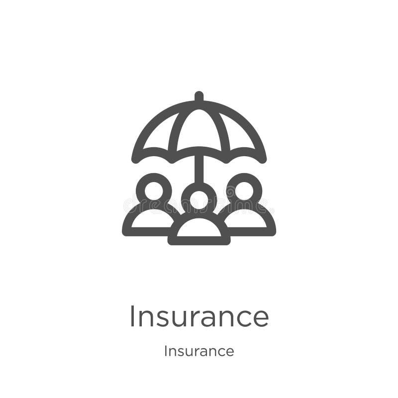 保险从保险汇集的象传染媒介 稀薄的线保险概述象传染媒介例证 概述,稀薄的线 向量例证