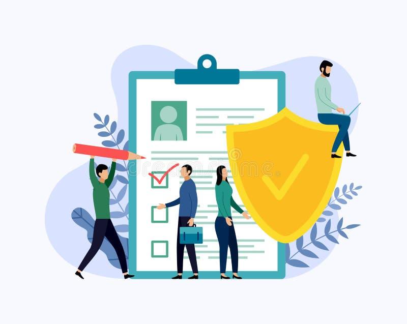 保险单概念,数据保密 库存例证
