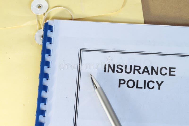保险单 免版税库存照片