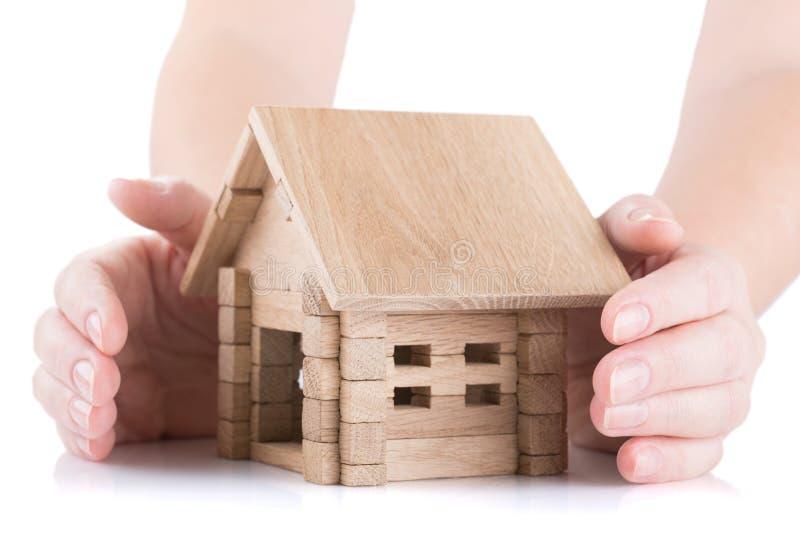 保险和安全性房子 免版税库存照片
