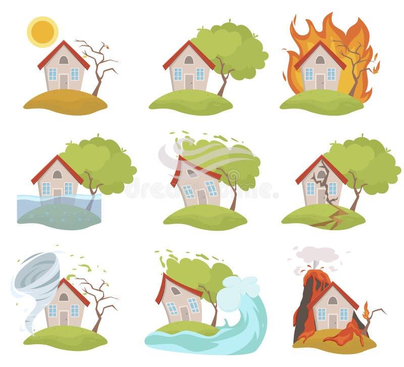 保险和风险房子的,家庭安全 向量例证
