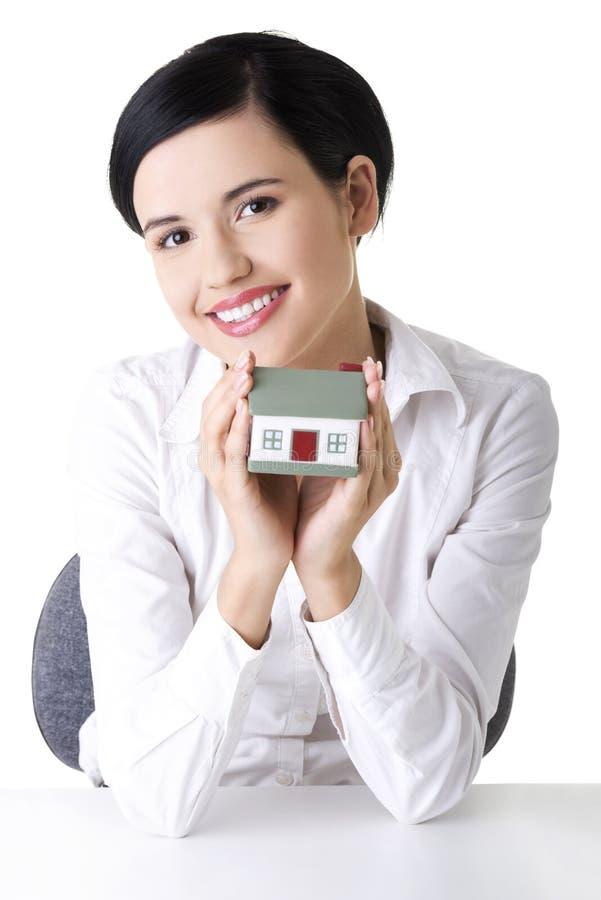 保险或证券的家庭保护的概念。 库存照片