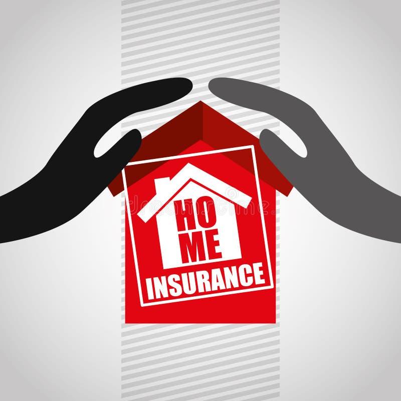 保险构思设计 向量例证