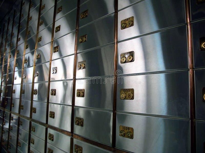 保险柜室  库存照片