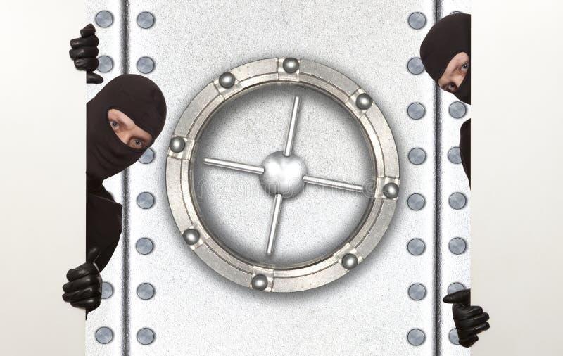 保险柜,夜贼, ninja 库存图片