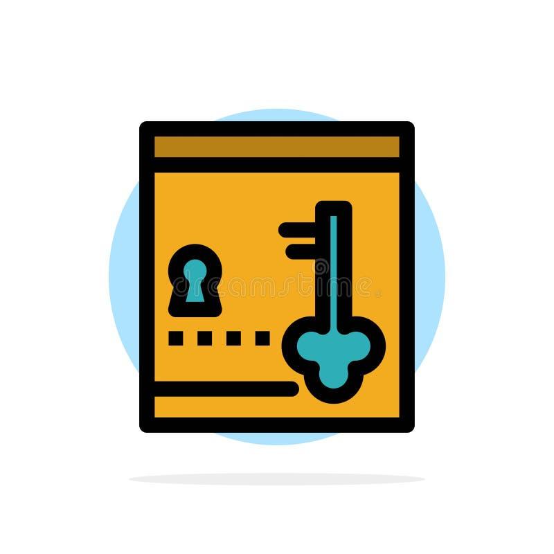 保险柜,衣物柜,锁,关键抽象圈子背景平的颜色象 皇族释放例证