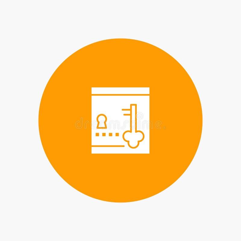 保险柜,衣物柜,锁,钥匙 库存例证
