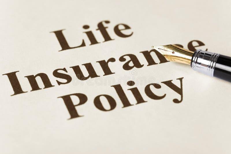 保险生活 免版税库存图片
