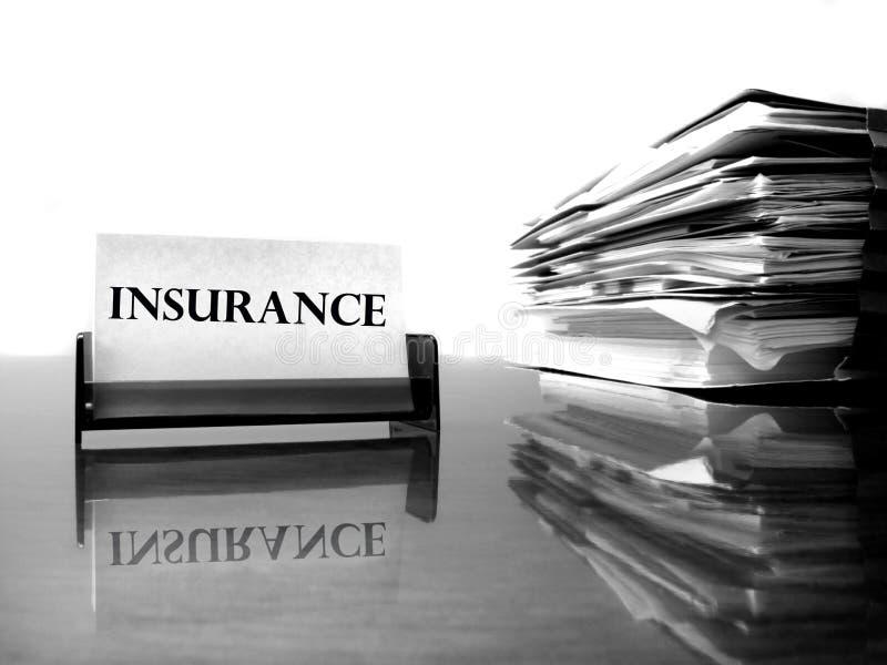 保险看板卡和文件 免版税图库摄影