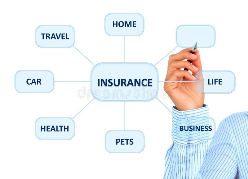 保险计划。 免版税库存照片