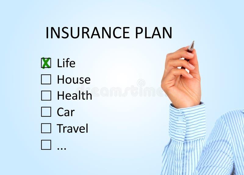 保险计划。 库存图片
