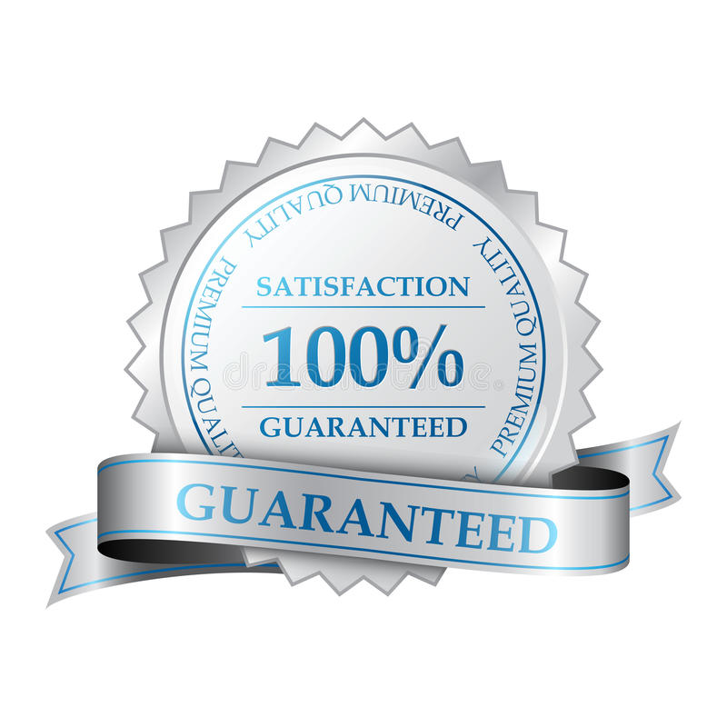保险费100%满意保证标签 向量例证