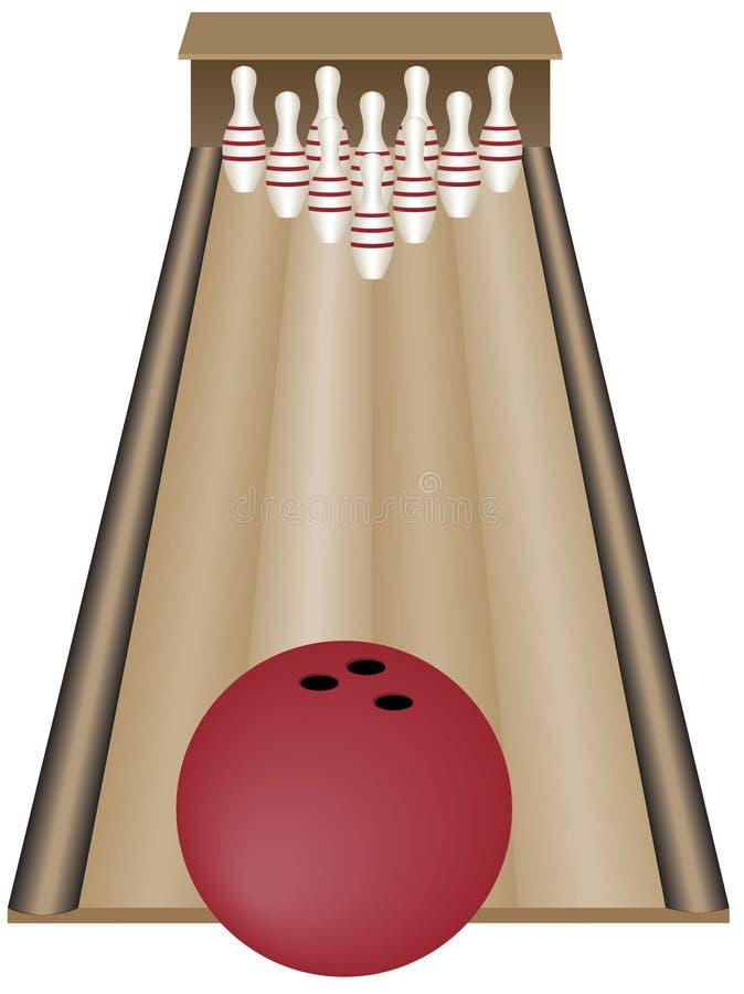 保龄球栓十 向量例证