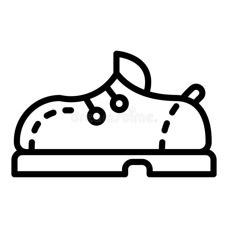 保龄球鞋象,概述样式 向量例证