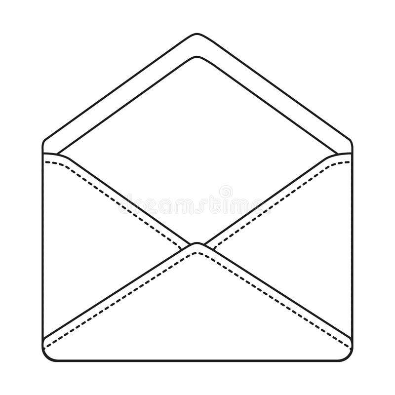 信件信封等高标志象传染媒介例证 库存例证