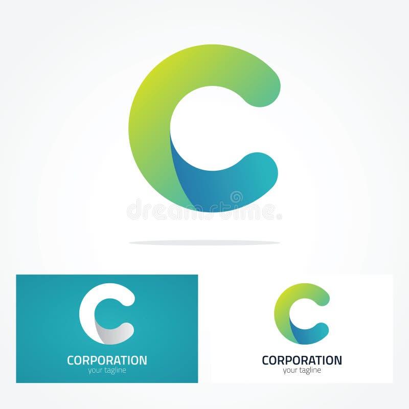 信件商标C 皇族释放例证