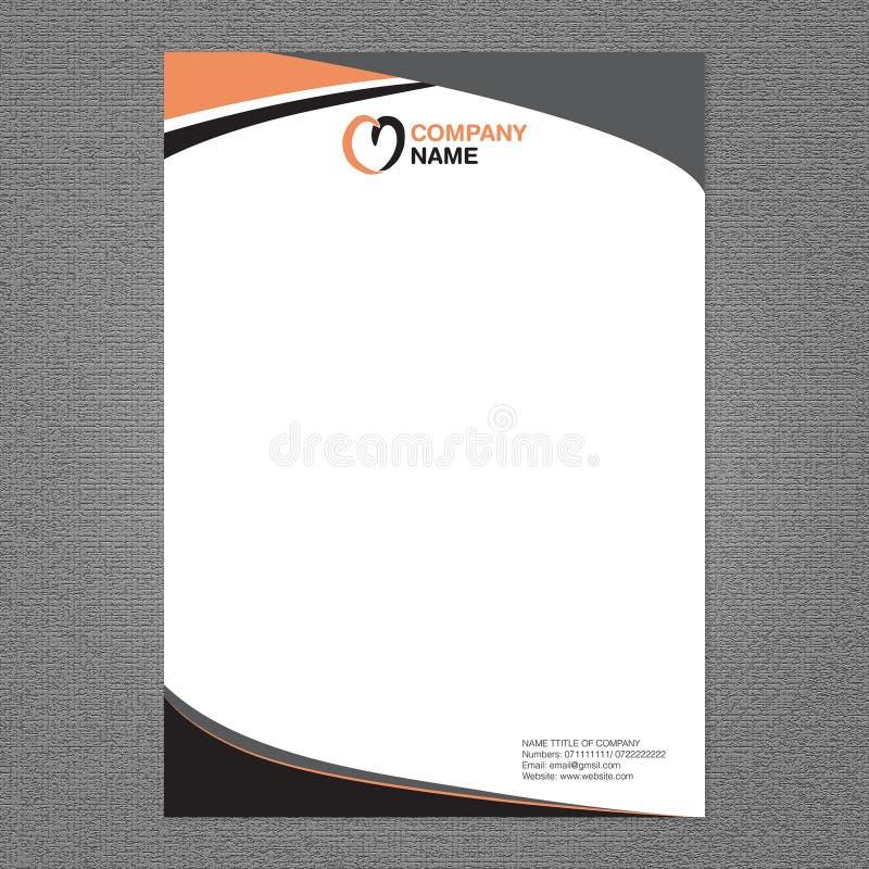信件头和商标设计 皇族释放例证